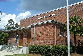 Sacred Heart High School (Hattiesburg, Mississippi) - Sacred Heart Gymnasium  Home of Crusader Basketball and Volleyball