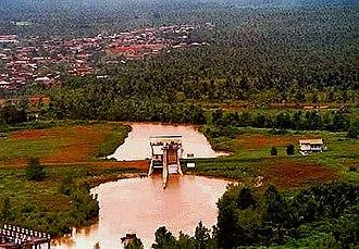 Asajaya District - Twin tidal control gate at Semera in Asajaya.