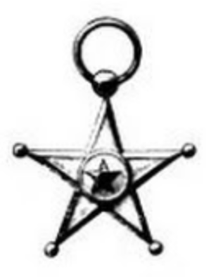 Service Star (Congo) - Black-and-white photo of the Service Star, with the ribbon and bars not shown
