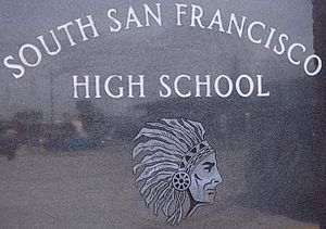 South San Francisco High School - Image: Ssfhs ssf mon 1