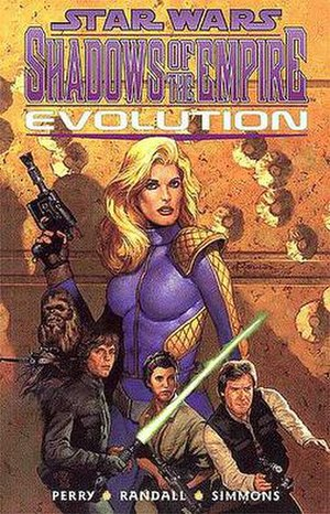 Star Wars: Shadows of the Empire - The cover of the graphic novel of Star Wars: Shadows of the Empire Evolution.