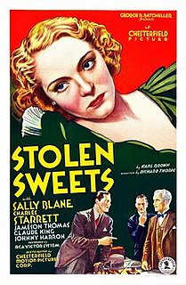<i>Stolen Sweets</i> (film) 1934 American comedy film directed by Richard Thorpe