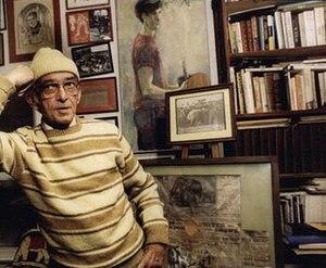 William Stringfellow - Stringfellow at his Block Island home, among his books, artwork, and circus memorabilia.