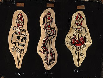 Flash (tattoo) - Vintage tattoo flash ca. 1940