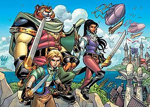 Tellos - Cover art for Tellos Colossal HC (August 2007), by Mike Wieringo.