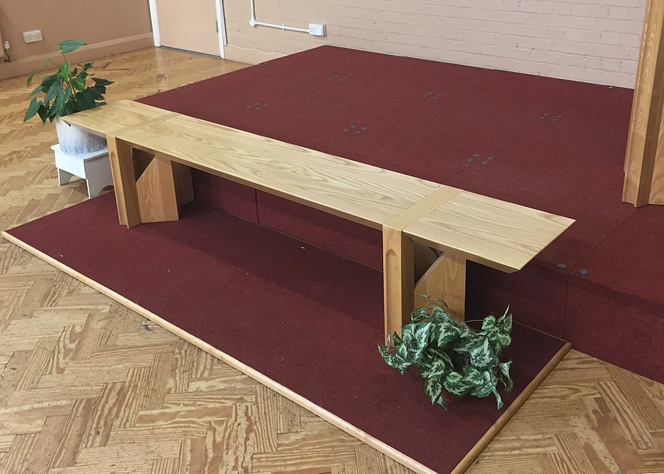 The Mercy Seat in a Salvation Army church London England