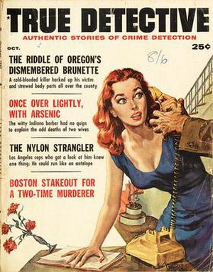 True Detective (magazine) - Cover of the October 1961 issue of True Detective