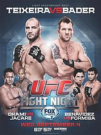 A poster or logo for UFC Fight Night: Teixeira vs. Bader.