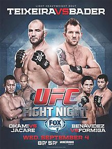 Ufc Fight Night Teixeira Vs Bader Wikipedia