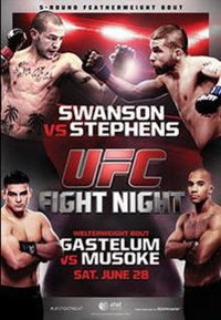 A poster or logo for UFC Fight Night: Swanson vs. Stephens.