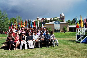 Students from many nations gathered for graduation in May 2003