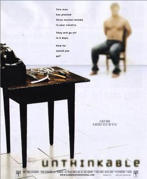 Unthinkable - Original theatrical release poster