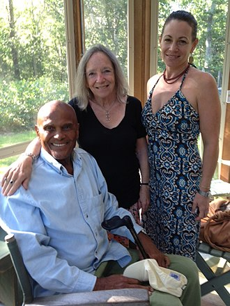 Ursula Goodenough - Goodenough, with her daughter Mathea, and Harry Belafonte at Goodenough's home on Martha's Vineyard.