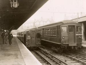 Uxbridge tube station - The original Uxbridge station at Belmont Road in October 1933