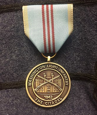 Washington Light Infantry - Washington Light Infantry 175th Anniversary Medal awarded to members of the South Carolina Corps of Cadets.