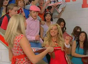 What Time Is It? (song) - Ashley Tisdale as Sharpay (center) in the music video.