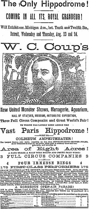 William C. Coup - Image: William Cameron Coup advertisement 1882
