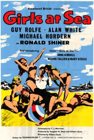 Girls at Sea (1958 film) - British film poster