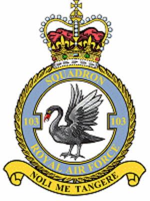 No. 103 Squadron RAF - Official squadron crest for No. 103 Squadron RAF