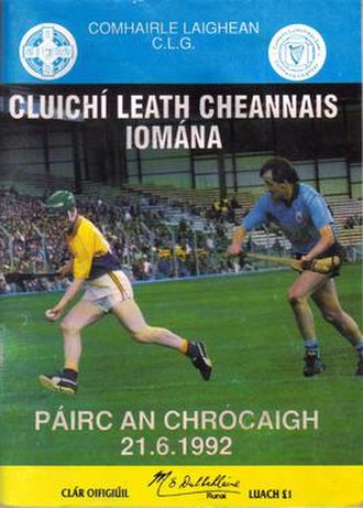 1992 All-Ireland Senior Hurling Championship - Match programme from the Leinster semi-finals