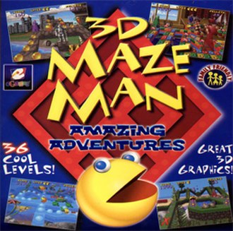 3D Maze Man: Amazing Adventures - Image: 3D Maze Man Amazing Adventures Coverart