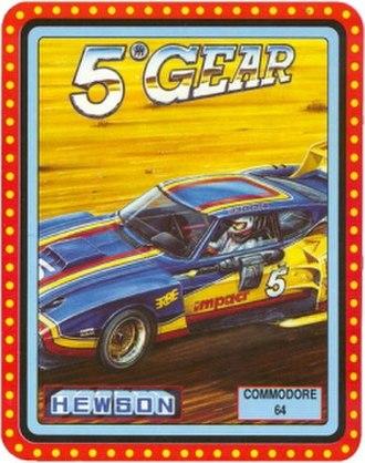 5th Gear (video game) - Commodore 64 cover art