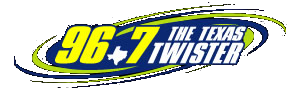 KTCK-FM - 96.7 The Twister logo from 2003 to 2008.