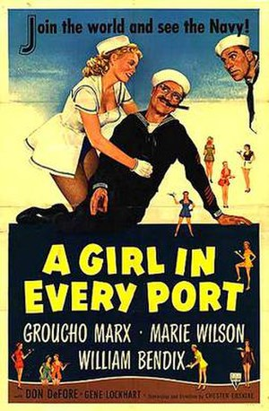 A Girl in Every Port (1952 film) - Theatrical release poster