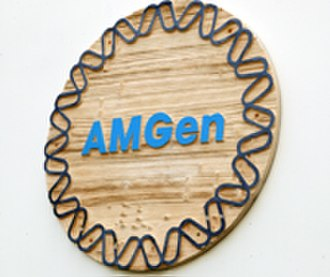 Amgen - AMGen corporate logo, 1983