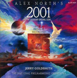 2001: A Space Odyssey (score) - Image: Alex North's 2001 Jerry Goldsmith record cover