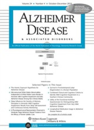 Alzheimer Disease and Associated Disorders - Image: Alzheimer Disease and Associated Disorders