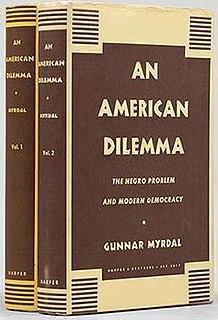 <i>An American Dilemma</i> book by Gunnar Myrdal
