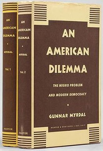 An American Dilemma - First edition published by Harper & Brothers