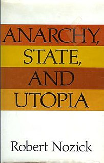 <i>Anarchy, State, and Utopia</i> book by Robert Nozick