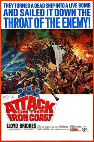 Attack on the Iron Coast - Original film poster by Frank McCarthy