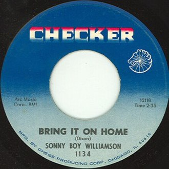 Bring It On Home (Sonny Boy Williamson II song) - Image: Bring it on home single cover