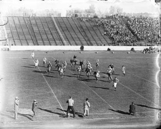 Colorado Buffaloes football - The Colorado Buffaloes play at Colorado Stadium sometime in the 1920s.