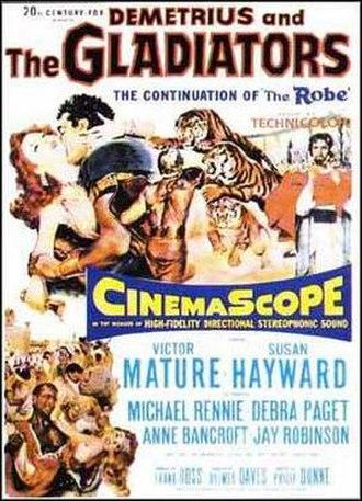 Demetrius and the Gladiators - Original film poster