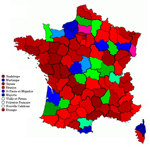 Le Mans Congress - Results by departmental federation