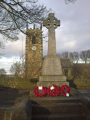 Emley, West Yorkshire - The war memorial by St Michael's Church