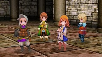 Final Fantasy III - Main characters of the 3D remake