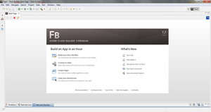 Adobe Flash Builder 4.5 running under Windows 7