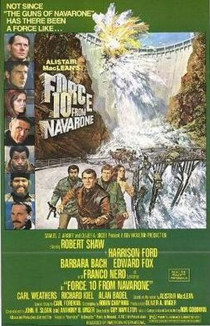 Force 10 from Navarone (film) - US film poster by Brian Bysouth