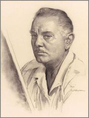 Gil Elvgren - Self-portrait of Gil Elvgren