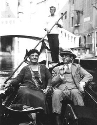 Harrison Cady - Harrison and Melinna Cady vacationing in Venice in 1931.