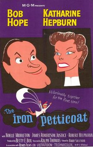 The Iron Petticoat - theatrical release poster