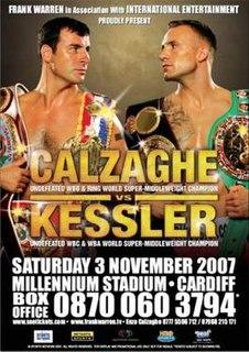 Joe Calzaghe vs. Mikkel Kessler Boxing competition