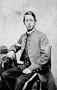 Joseph Pierce, soldier who served in North during American Civil War.[19][20] to Gettysburg to Lee's surrender at Appomattox Court House.[21] Pierce achieved the highest rank of any Chinese American to serve in the Union Army, reaching the rank of corporal.[22] Pierce's picture hangs in the Gettysburg Museum.[23][24]
