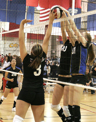 Volleyball jargon - A joust.