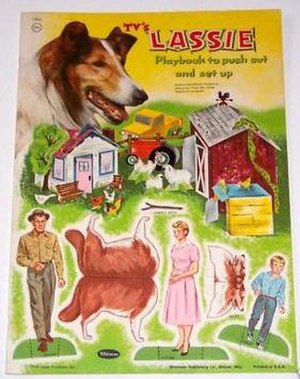 Timmy Martin - Lassie punch out book with Timmy depicted in lower right hand corner